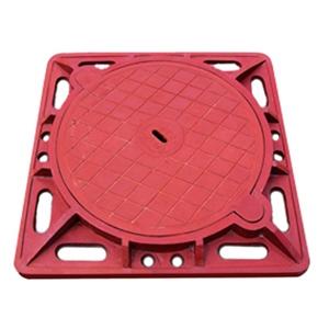 Nắp hố ga Composite khung vuông âm nắp tròn (850x850) tải trọng 7,5-12,5-25 tấn